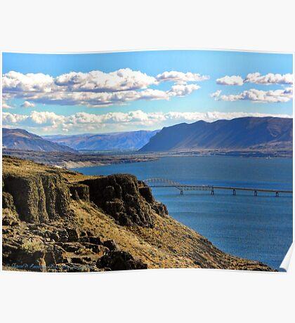 Beautiful Vantage - Columbia River Gorge Poster