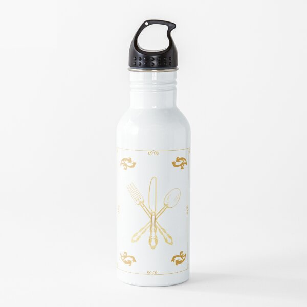 Just Add Magic Utensils Gold with Border Water Bottle