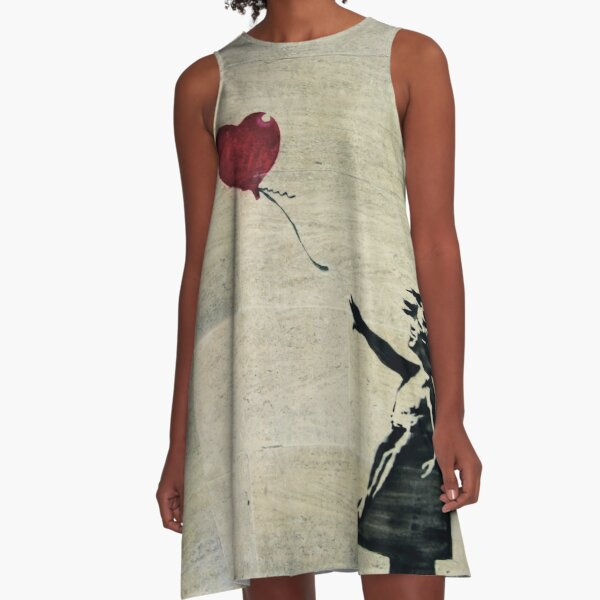 Banksy's Girl with a Red Balloon III A-Line Dress