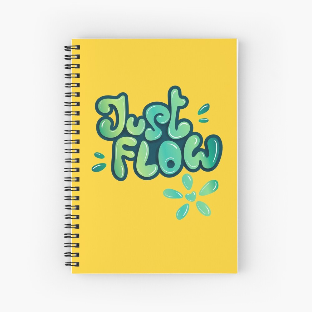 Just flow liquid lettering Spiral Notebook