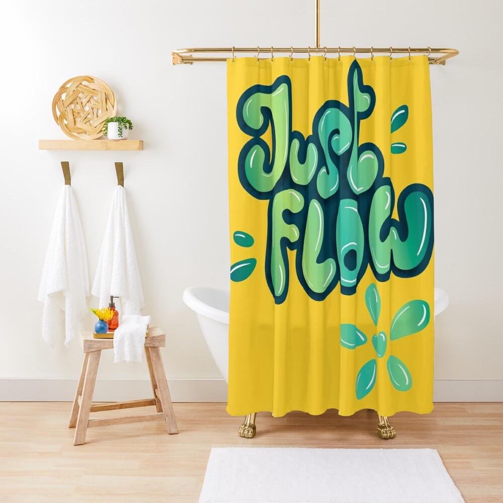 Just flow liquid lettering Shower Curtain