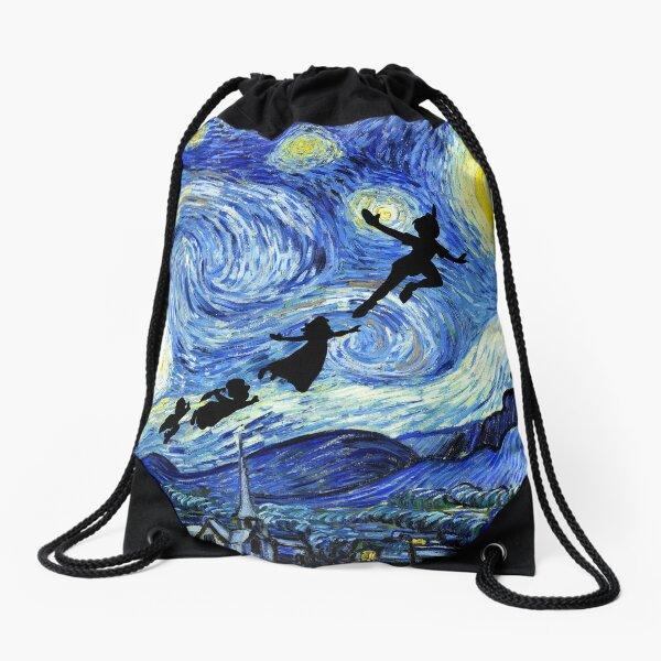 Peter Pan Starry Night Drawstring Bag