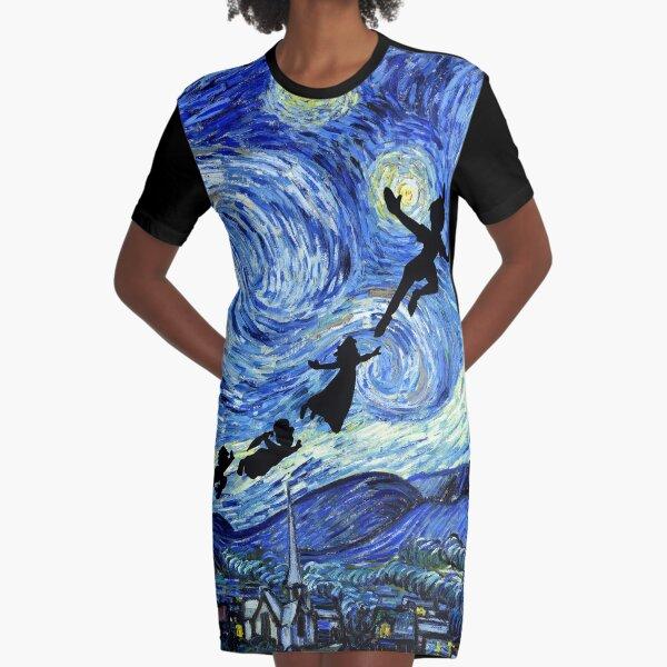 Peter Pan Starry Night Graphic T-Shirt Dress