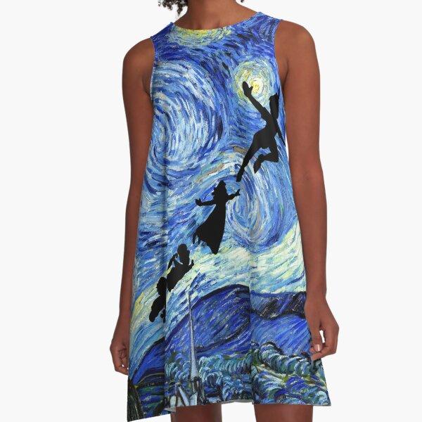 Peter Pan Starry Night A-Line Dress