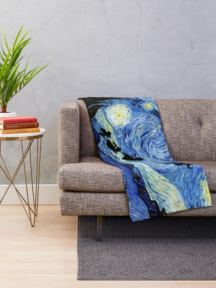 Alternate view of Peter Pan Starry Night Throw Blanket