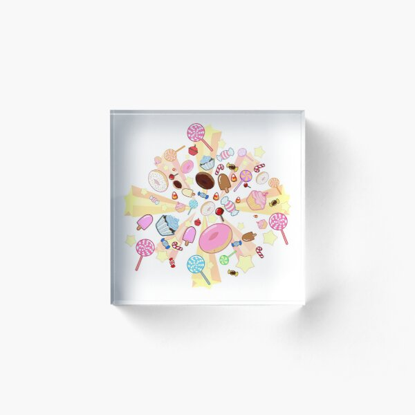 Burst of candy Acrylic Block