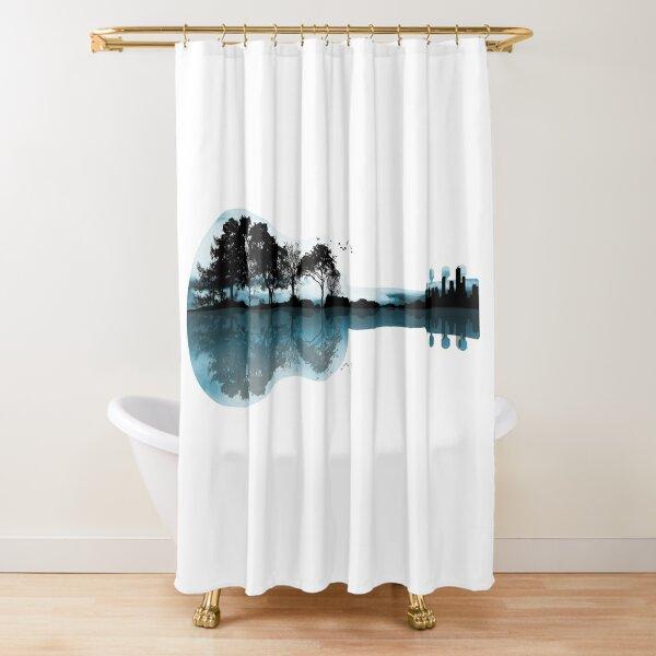Nature Guitar Shower Curtain