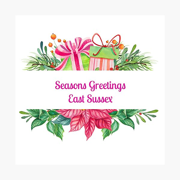 Seasons Greetings East Sussex - personalized gift  Photographic Print