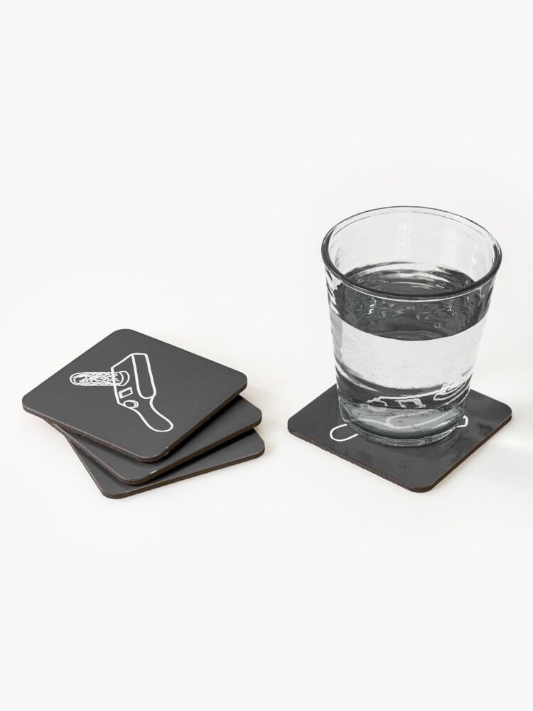 Alternate view of Rick's Portal Gun | Rick and Morty Gadget (white) Coasters (Set of 4)