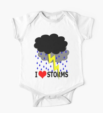 i love storms Kids Clothes