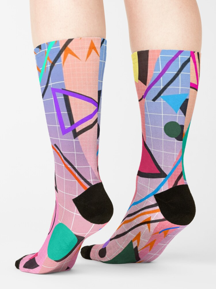Alternate view of 80s pop retro pattern 2 Socks