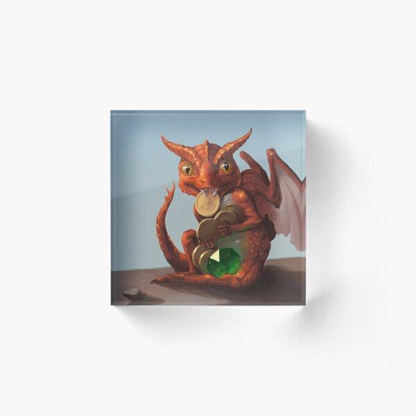 Baby Dragon Acrylic Block