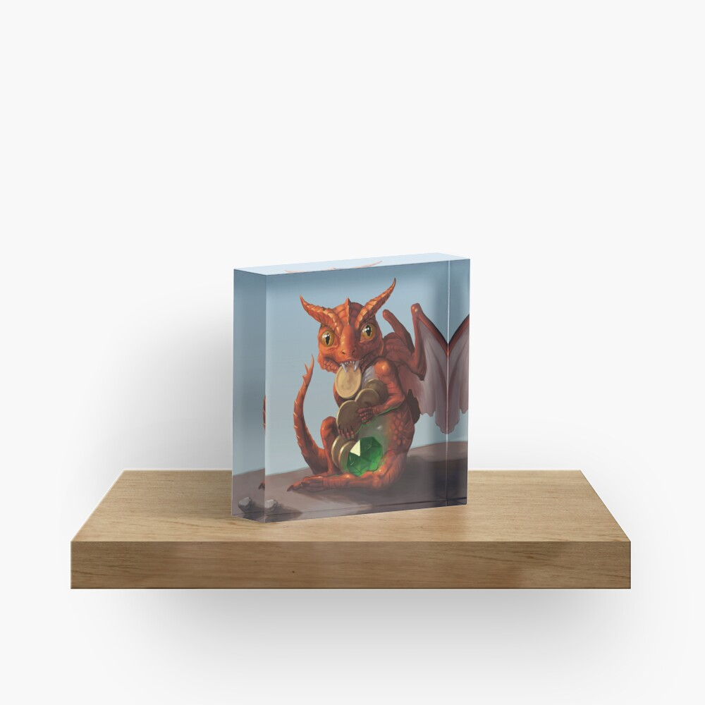 Baby Dragon | Digital Illustration Acrylic Block