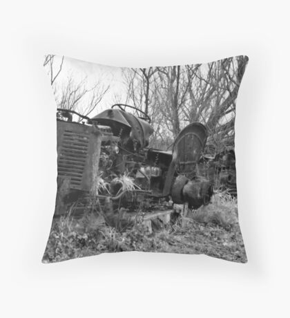 Once Were Workhorses (#2 - mono) Throw Pillow