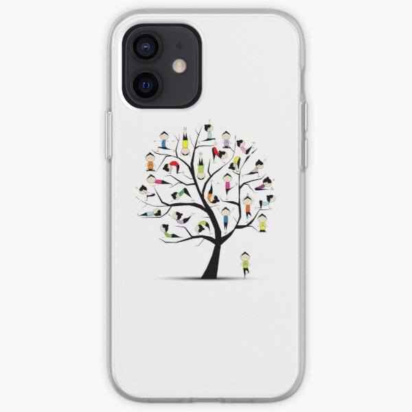 Yoga practice, tree concept iPhone Soft Case