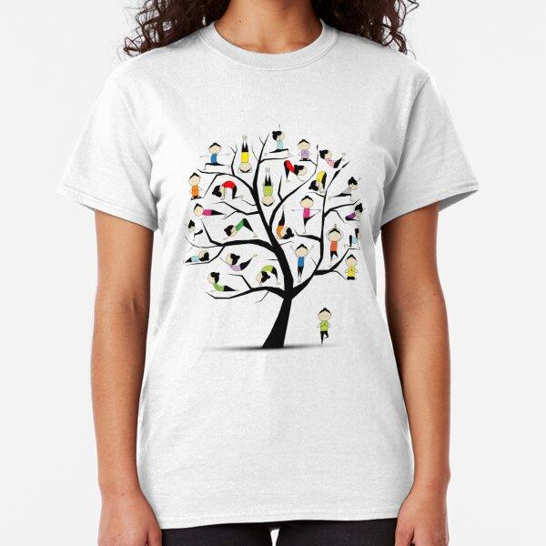 Yoga practice, tree concept Classic T-Shirt