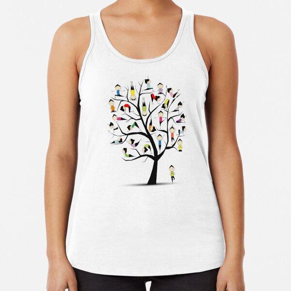Yoga practice, tree concept Racerback Tank Top