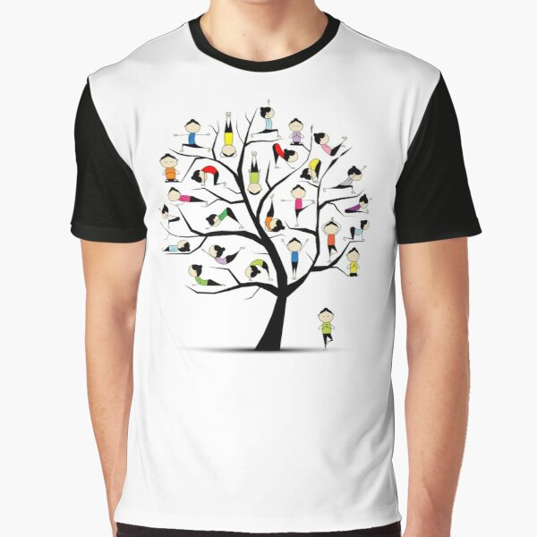 Yoga practice, tree concept Graphic T-Shirt