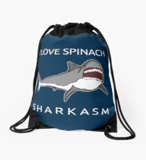 Funny Shark Pun - I Love Spinach Sharkasm Turnbeutel