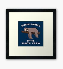 Official Member Of The Sloth Crew - Team Sloth Gerahmtes Wandbild