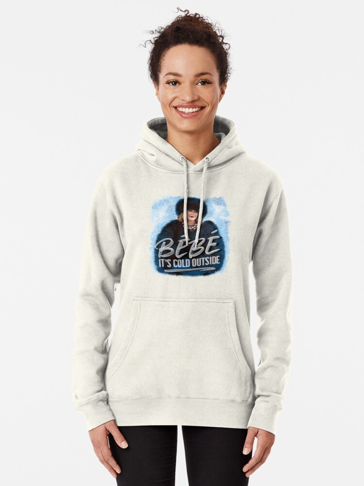 Alternate view of ORIGINAL ARTIST Moira Rose Holiday Bebe It's Cold Outside  Pullover Hoodie