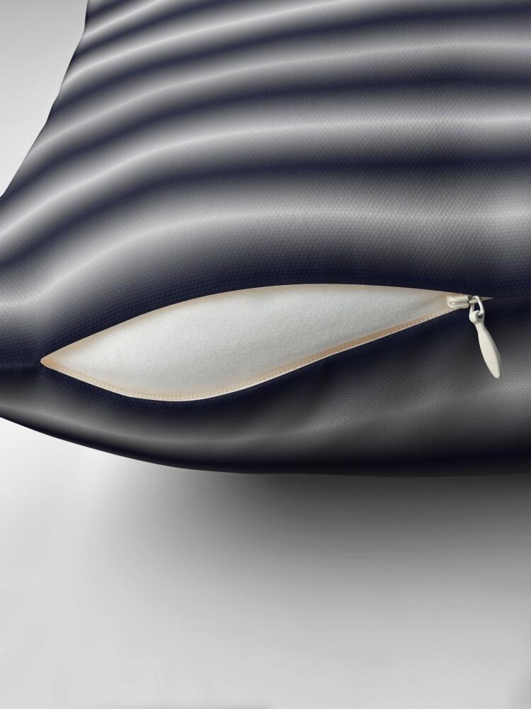 Alternate view of Vibrating Horizontal Bars - Blue Grey Throw Pillow