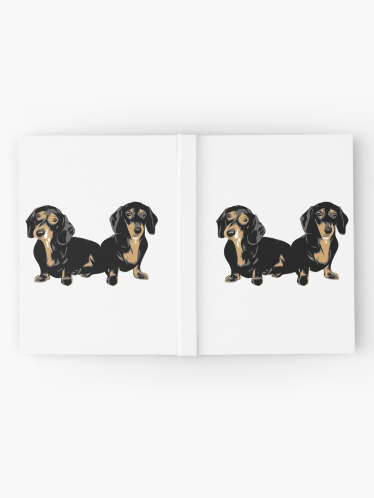 Alternate view of Two Dachshund Puppies Colour Vector Hardcover Journal