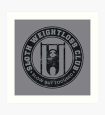 Sloth Weightloss Club Slow But Focused - Funny Team Sloth Kunstdruck