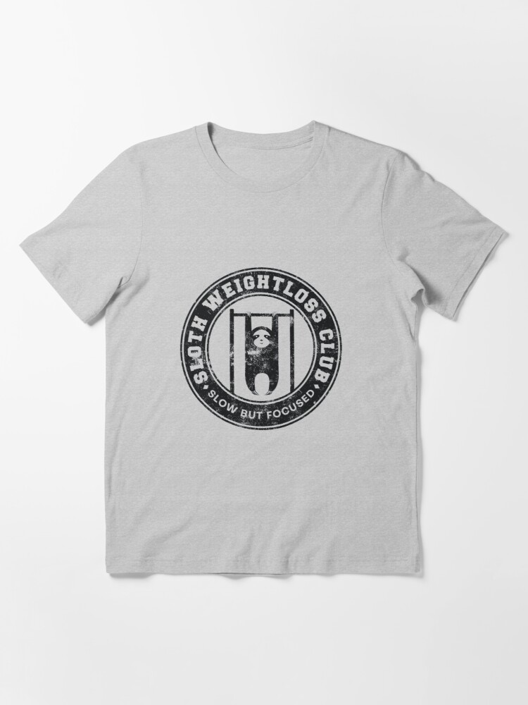 Alternate view of Sloth Weightloss Club Slow But Focused - Funny Team Sloth Essential T-Shirt