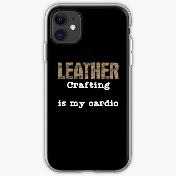 Leatherwork Cardio | Leather Crafting Sports Craft iPhone Soft Case