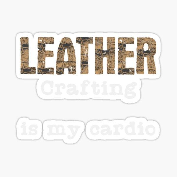 Leatherwork Cardio | Leather Crafting Sports Craft Sticker