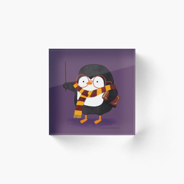 The Wizard Penguin Acrylic Block