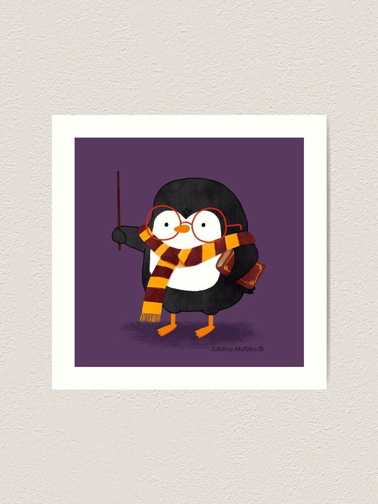 Alternate view of The Wizard Penguin Art Print