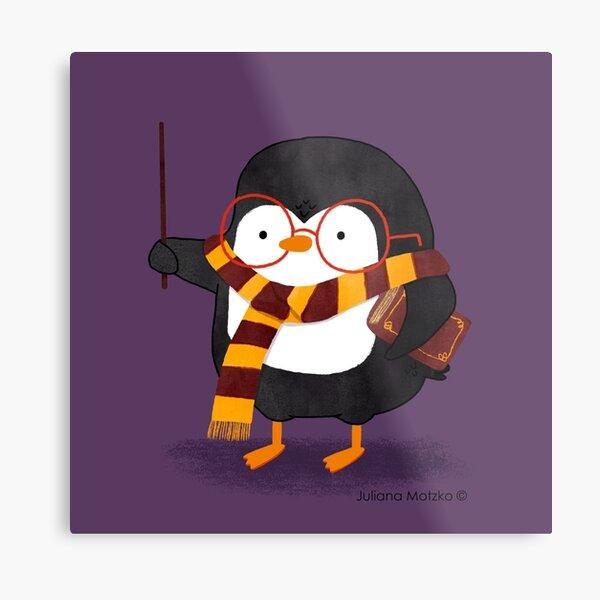 The Wizard Penguin Metal Print