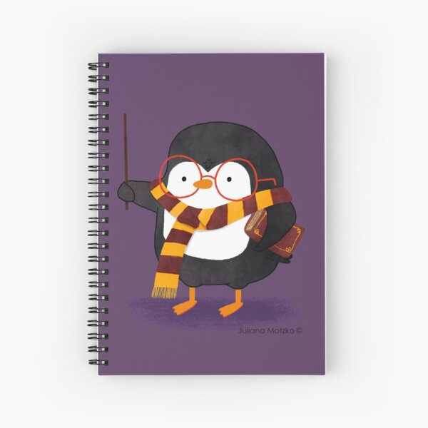 The Wizard Penguin Spiral Notebook