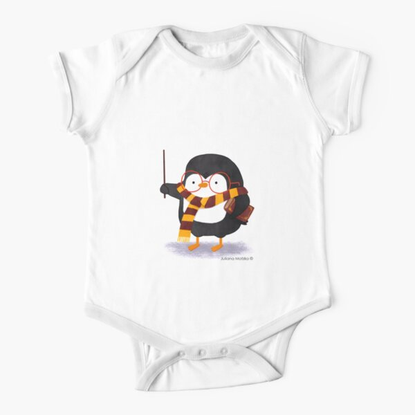 The Wizard Penguin Short Sleeve Baby One-Piece