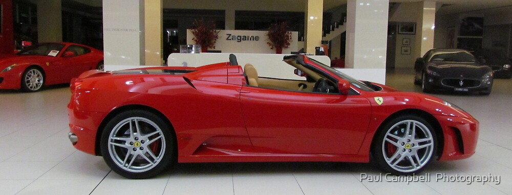 A Red Ferrari Convertable by Paul Campbell  Photography