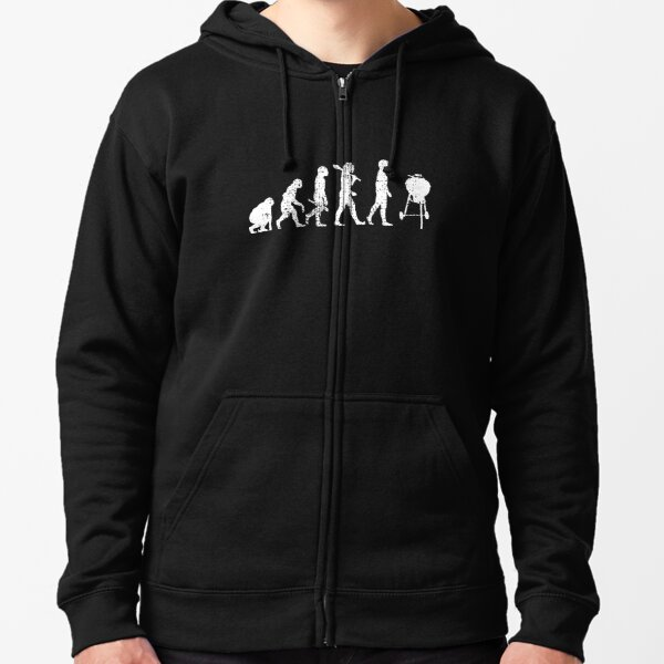 BBQ Grilling Zipped Hoodie