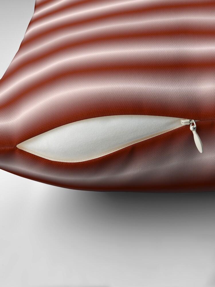 Alternate view of Vibrating Horizontal Bars - Red Orange Throw Pillow
