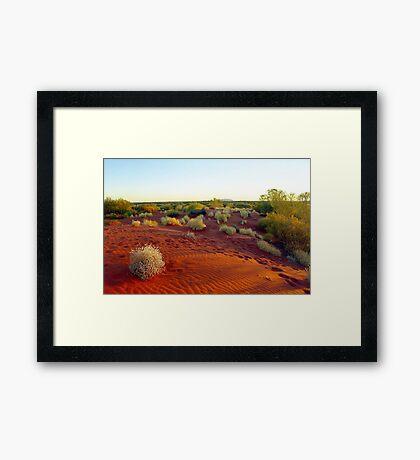 Red sands of the outback , Australia Framed Print