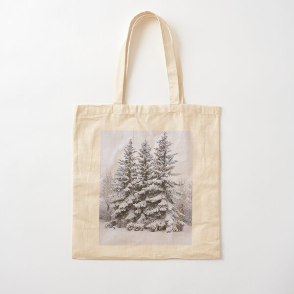 Snow Day Cotton Tote Bag