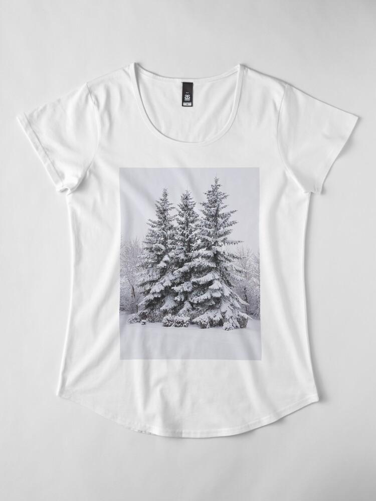 Alternate view of Snow Day Premium Scoop T-Shirt