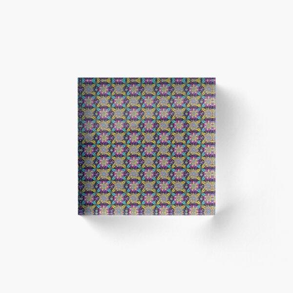 Mandala flowers Acrylic Block