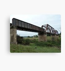 Crookwell Line - Wollondilly River Bridge (2) Canvas Print