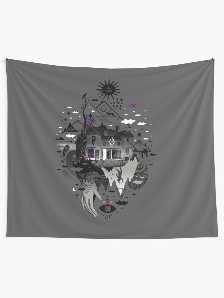 Alternate view of House is Not a Home Tapestry