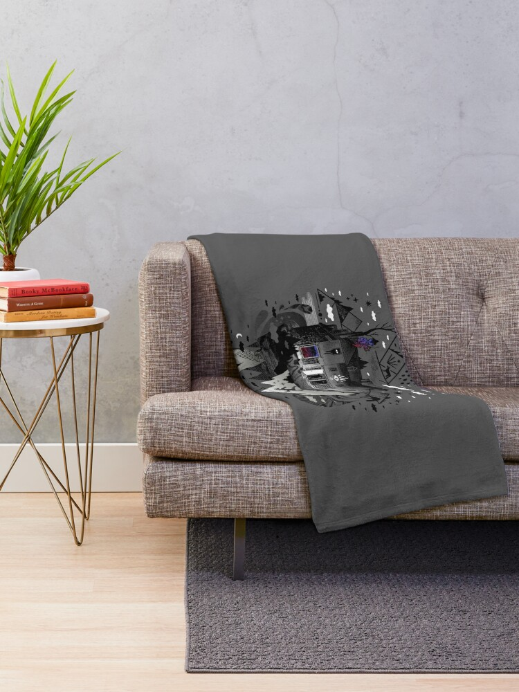 Alternate view of House is Not a Home Throw Blanket