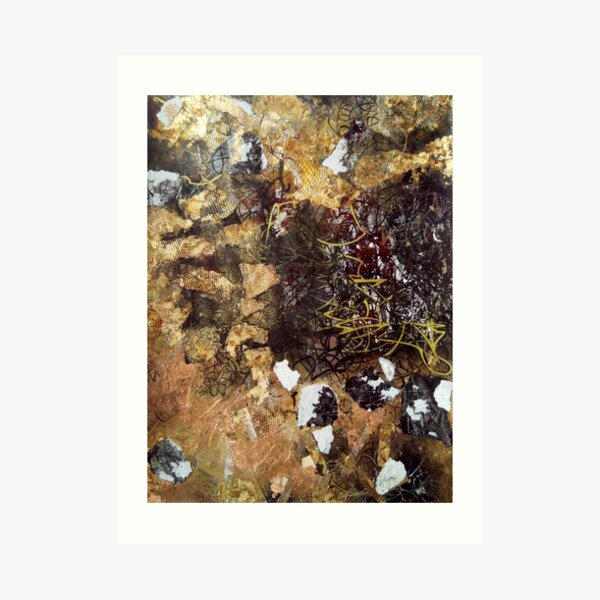 Chaos on Copper surface Art Print