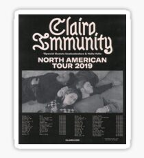 clairo immunity tour poster Sticker