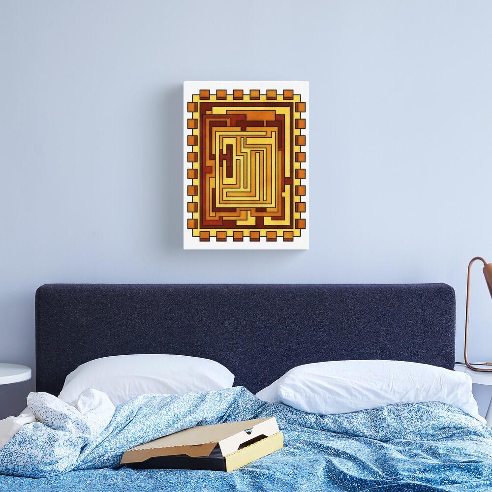 Sol - Geometric Art Deco Sun Canvas Print