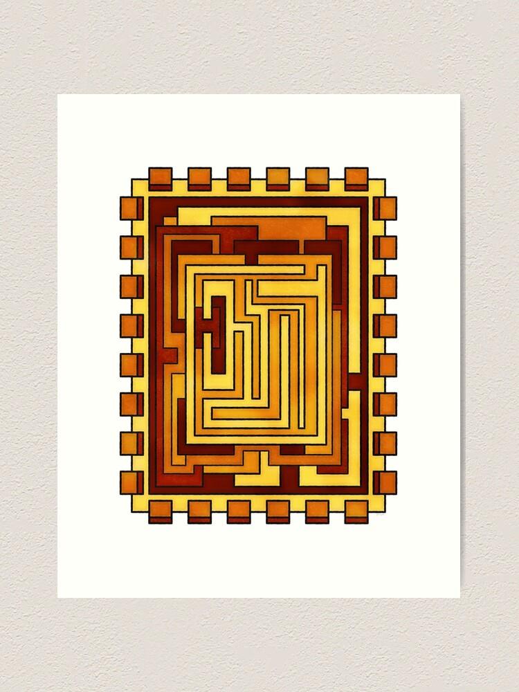 Alternate view of Sol - Geometric Art Deco Sun Art Print